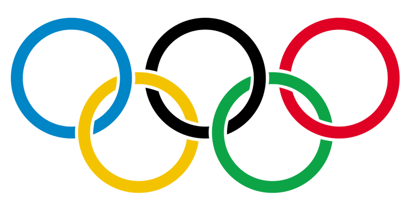 The Olympic Rings, the symbol of the modern Olympic Games, is composed of five interlocking rings, colored blue, yellow, black, green, and red on a white field. It was originally designed in 1912 by Baron Pierre de Coubertin, the founder of the modern Olympic Games. The colors (including the white background) also represented at least one color on all national flags of the world at that time. The 1914 Olympic Congress had to be suspended due to the outbreak of World War I, but the symbol (and flag) were later adopted. They would first officially debut at the Games of the VII Olympiad in Antwerp, Belgium in 1920. The five rings represent the five (inhabited) continents: Europe (blue), Asia (yellow), Africa (black), Oceania (green) and the Americas (red).